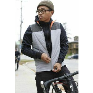 Specialized Utility Reversible Vest Mens Size Large L Cycling Safety Orange Grey
